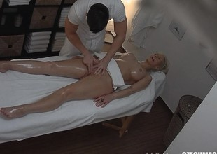 Golden-haired Tattoed Angel Fucked During Massage