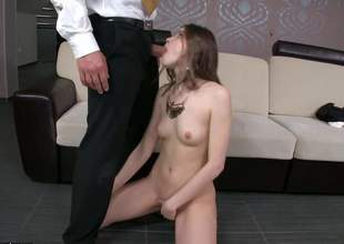 A skinny little brunette has the best colleague in the world. That babe is even letting him butt fuck her real fucking hard. If that aint real friendship, I dont honestly know what is
