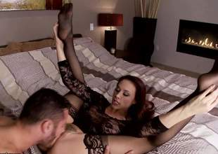 Chanel Preston is one lustful brunette pornstar and this babe can make any cock hard. This babe is using her cute little feet to make him hard before this babe sits on that big, massive cock