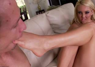 Aaliyah Love has some real sexy feet and she's not afraid to show them. This sensual playgirl will be getting a great foot worship movie and she's gonna get fucked along the way, as well