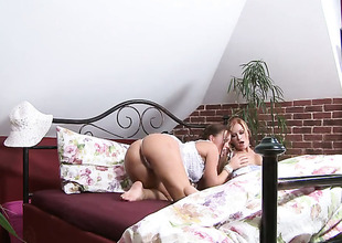 Stacy Silver and Silvia Saint kill time playing with each others beaver