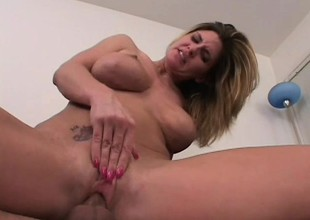 Nasty kermis MILF gets paid to endure a violent anal ravaging