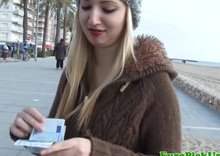 Eurosex tiro facialized outdoor for cash