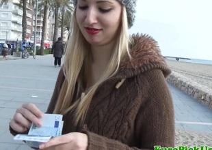 Eurosex tiro facialized outdoor for cash
