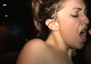 Nasty college belle is so ready to gobble down this black meat