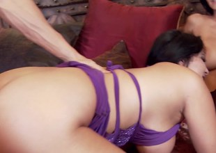 Mommies suck dick and get fucked in a hot threesome