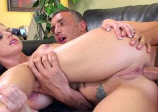 Brooklyn Chase takes an anal fucking from his large dick