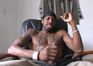 A nice solo scene with Jon a black jock with a large cock will do it for you!