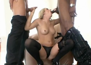 Sean Michaels and Marco Banderas in the same room...that's a whole lot of cock! Only one slut can handle this authoritatively shaft and it happens to be Kylee Reese! Watch as these two studs work her mouth and then pound deep in to her sexy pussy. Once she's got fuck