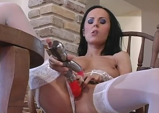 After a admirable lengthy bit of playtime with her toys, this stunning brunette, named Amanda, is ready for anything!  This is a 31 minute hardcore scene with a lady nobody would ever say no to.  She fucks her Rabbit previous to a juvenile stud shows up to give her the r