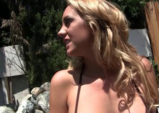 Smoking sexy bodies on two sweethearts fooling around in the pool