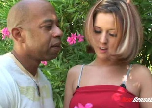 Black guy with a huge schlong destroys a white girl's a-hole