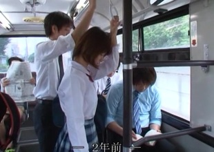 Girl rides the bus home from school and gets fucked