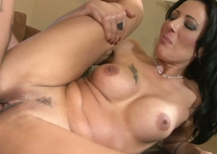 Desirable brunette be alive bitch Zoey Holloway gets her succulent muff nailed