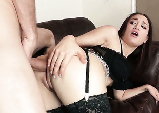 Danny D seduces Gabriella Paltrova into fucking and sticks his fuck stickin her bum hole