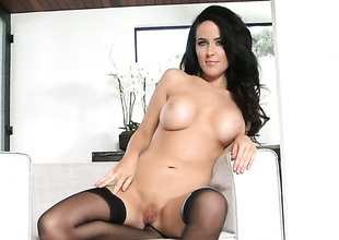 Courtney Cameo with massive jugs and trimmed twat gets the pleasure from wet crack stroking like at no time in advance of