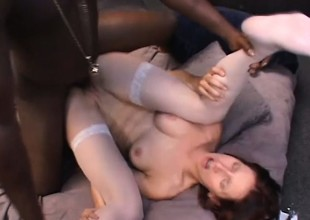 Maggie Star gets her anal hole roughly drilled by a massive swart cock