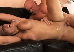 Cum itchy whore Anjelica can't wait to taste his sticky man milk