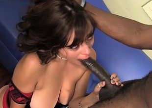 Mali Luna is hopeless to take a huge black dick in her shaved pussy