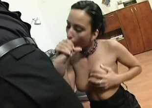 The boss turns his steamy sexy secretary into a little fuck slave