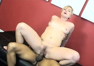 Filthy Nora Skyy puts her legs in the air to take every inch of a dick