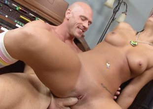 Banging on the piano bench with Gianna Michaels