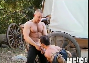 It's been a lengthy day within reach the Dude Ranch and these two Cowboys are ready to take to a certain time off. Fortunately, what they in point of fact end up doing is taking to a certain time on...each others big cocks! Watch as these Cowboys fuck and engulf their way to two creamy