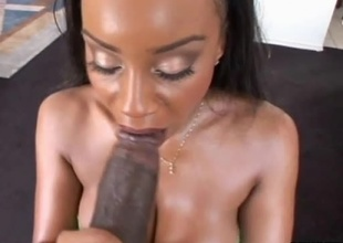 Sandi Jackman and Lexington Steele are chilling out back to hand the crib playing pool when Sandi notices the hard on in Lex's pants. She couldn't resist whipping it out and giving it a good engulfing on before taking it deep inside her love tunnel. She gets fuc