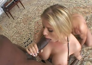 Lex Steele has always loved nailing blondes...but fortunate for Toni Ribas, Lex is always ready to share a piece of the pire with his friends! Today these two large cocked studs are intend to drill Daphne Rosen a fresh ass hole! Literally, her ass will at no time be