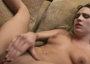 Amazing blondie with sexy bum rides dick on top and switches to mish fuck