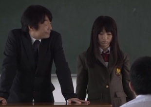 Japanese gets fingered nicely and gives oral job in locker room