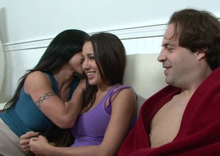 A married pair hooks up with a sexy younger chick