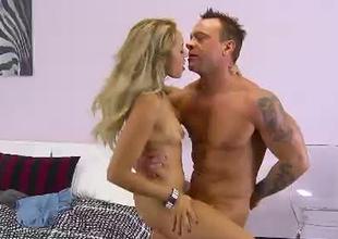 Cock loving blondie blows dick in flying 69 position