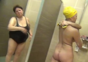 Real spy cam in a public shower