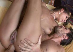 Desirable brunette hoe Angel Darksome ass fucked by horny stud Manuel Ferrara