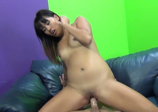 Playful Asian sweetie Angelina Chung gets drilled hard