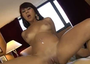 Dirty hooker with big natural boobs fucks in a sideways position