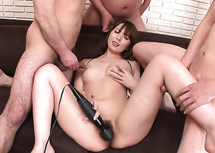 Vibrator is used on a tiny Asian