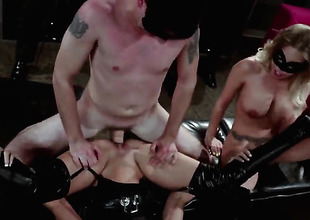Bondage with two horny sluts