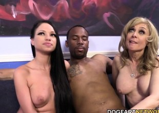 Raven Bay And Nina Hartley Train A Guy A Lesson