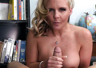 Phoenix Marie with large melons loves the way Xander Corvus drills her mouth