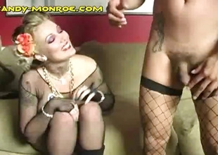 Dressing Her Cuck in Fishnets
