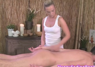 Spruce models arse gets jizz flow at rub down