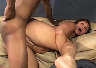 Hot mom Jillian takes this thick unscrupulous knob unfathomable in every hole