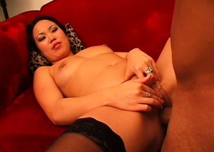 Oriental doll goes interracial with a huge-dicked chocolate stud