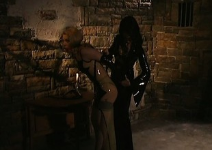 Deleterious little slave gets bound and has to take her sexy punishment