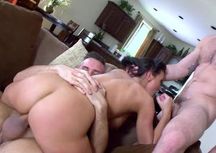 Two fit fellows give Rachel Starr the threesome of her life