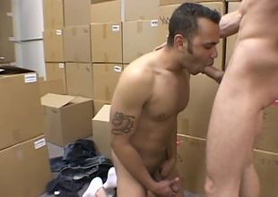 Bonus Content from Viking Pics Penile Intuition, directed by Tina Tyler. Corbin and Josh take advantage of the empty warehouse to have a hot and wild time. They strip each other down and get on their knees and service the other. Corbin then takes his